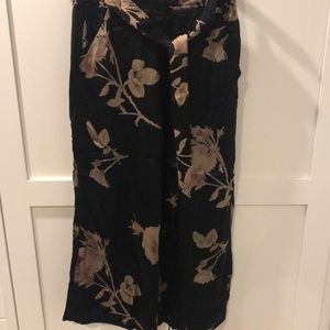Wilfred black with floral design wide length pants